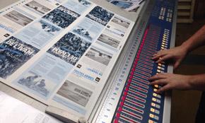 mesa de control de máquina de impresión online en offset