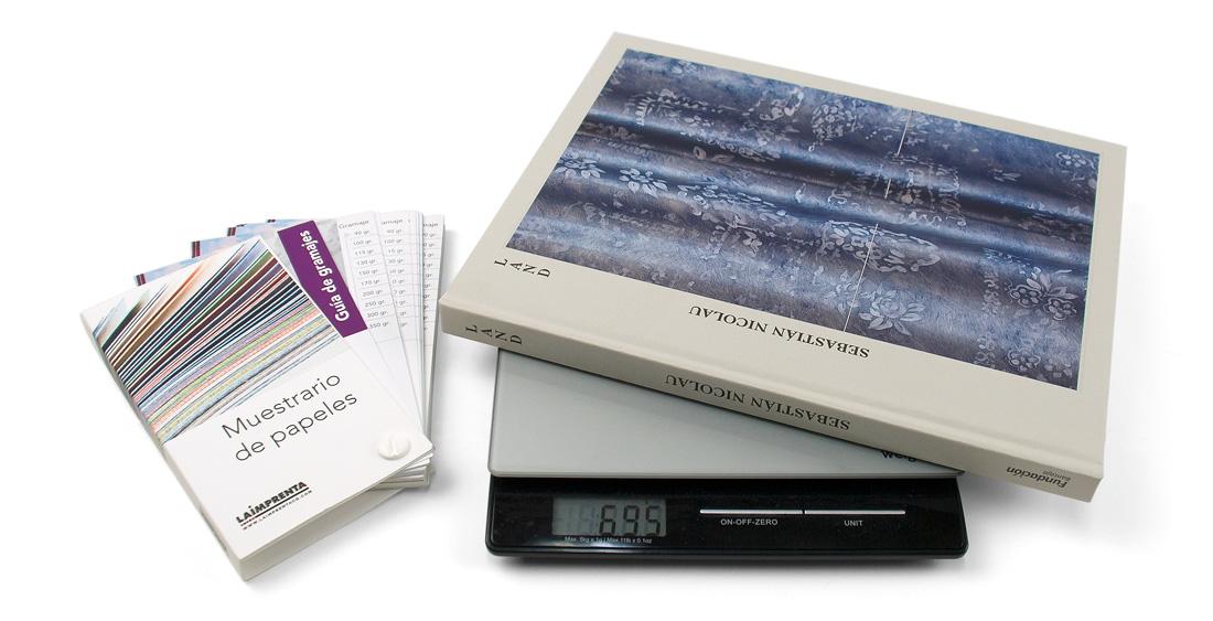 Cómo calcular el peso de un libro tapa dura
